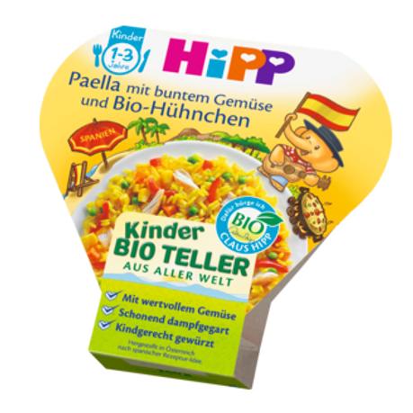 Hipp Bio Kinderteller Paella mit buntem Gemüse und Bio-Hühnchen ab 1 Jahr,