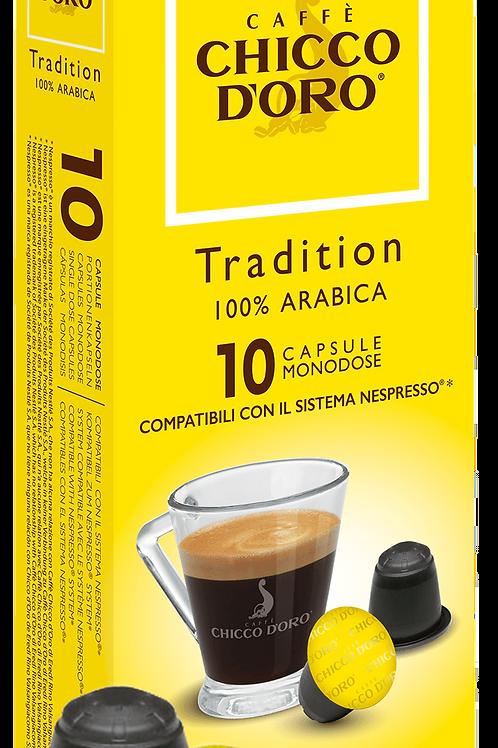 NESPRESSO® Kompatible Kaffeekapseln Chicco D'Oro Tradition 100% Arabica