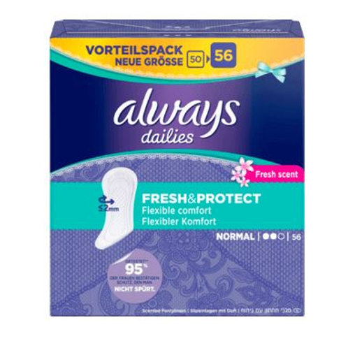 always daylies Slipeinlage Normal Fresh, 56 St