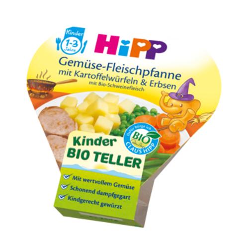 Hipp Bio Kinderteller Gemüse-Fleischpfanne mit Kartoffelwürfeln & Erbsen ab 1 J.