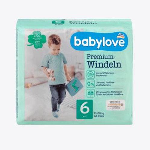 Babylove Premium-Windeln Gr. 6 XXL 15-20 Kg 32 Stk.