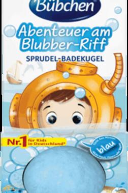 Bübchen Badezusatz Sprudel-Badekugel Abenteuer am Blubber-Riff, 40 g
