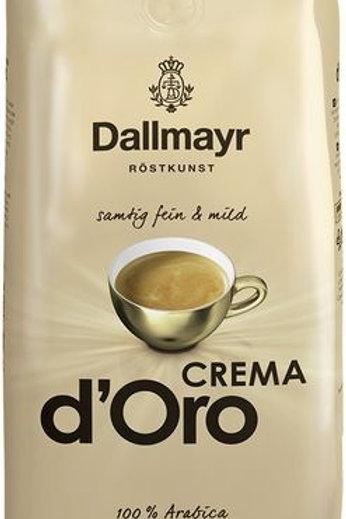 Ganze Kaffeebohnen Dallmayr Crema d'Oro 1kg Samtig fein & mild