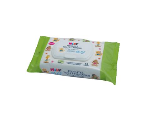 Hipp Feuchttücher Feuchtes Toilettenpapier, 50 St