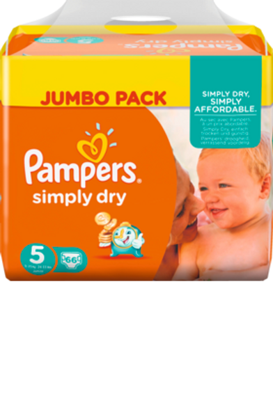 Pampers Simply Dry 5 Junior