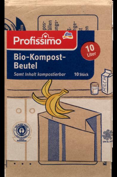 Profissimo Papier Kompostbeutel 10lt/10St.