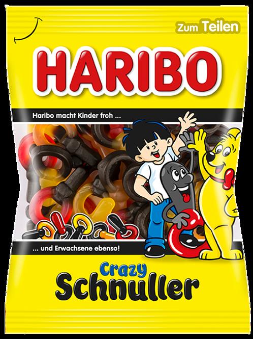 Haribo CRAZY SCHNULLER Vegetarisch, Beutel 200 gramm