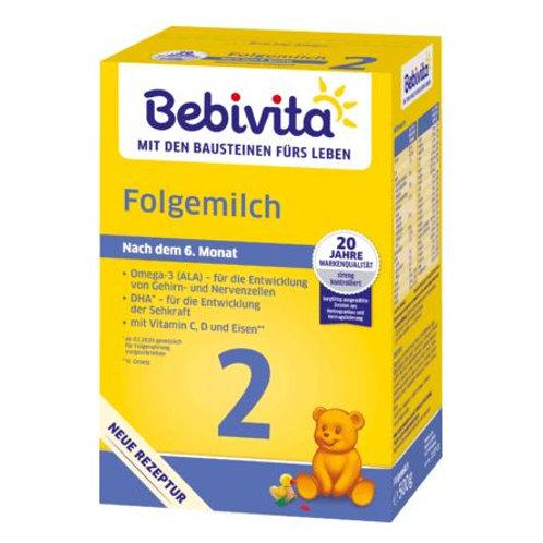 Bebivita Folgemilch 2 nach dem 6. Monat, 0,5 kg