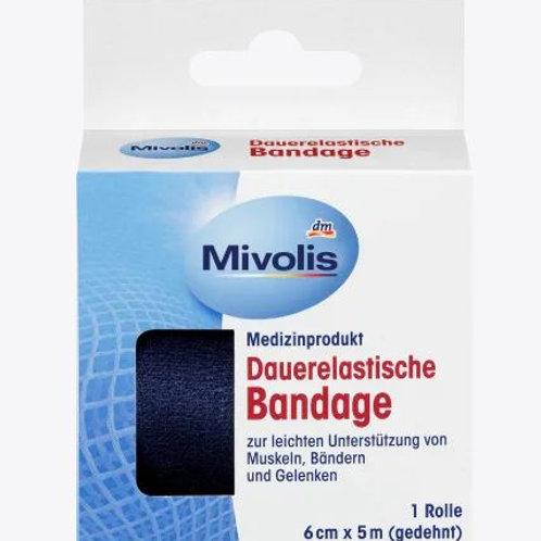 Mivolis Dauerelastische Bandage, 6 cm x 5 m (gedehnt), 1 Rolle, 5 m