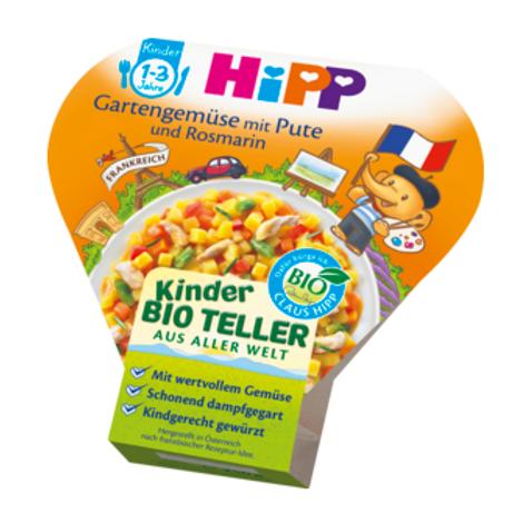 Hipp Bio Kinderteller Gartengemüse mit Pute und Rosmarin ab 1 Jahr, 250 g