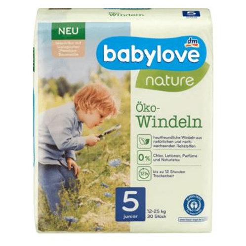 Babylove Öko-Windeln Nummer 5 für sensible Haut 12-25 Kg 30 Stk.