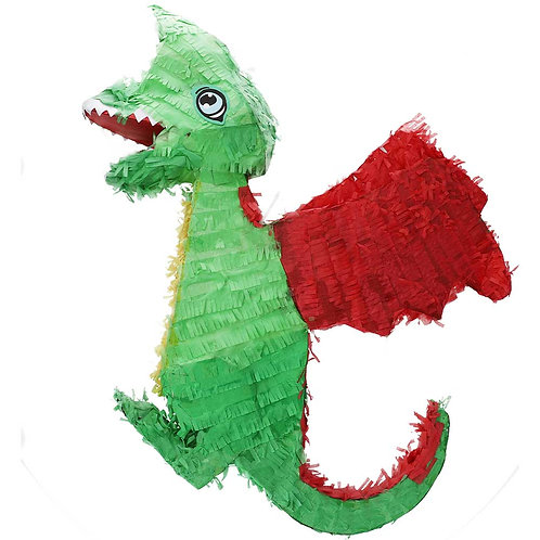 Piñata Drache aus Karton zum befüllen
