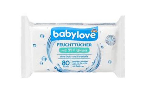 babylove Feuchttücher 99% Wasser, 80 St