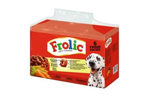 Frolic Trockenfutter für Hunde, Complete mit Rind, Karotten & Getreide, 7,5 KG