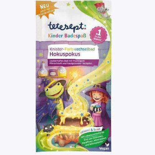 Tetesept Badezusatz Kinder Badespass Farbwechselbad Hokuspokus, 50 g