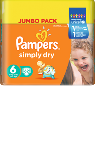 Pampers Simply Dry 6 Extra Large