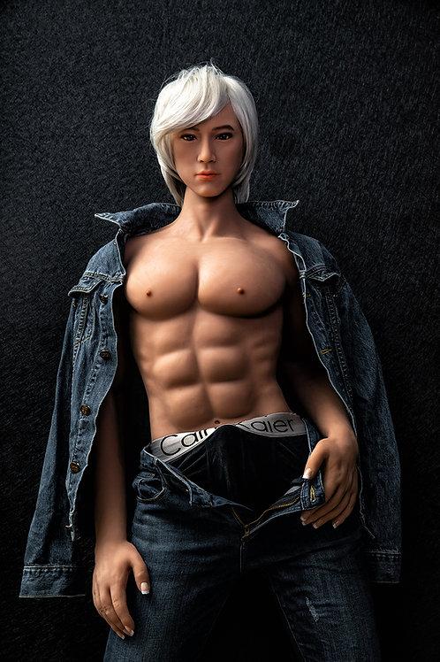 Männliche Silikon Sexdoll mit Skelett 170cm Bernie 46 Kg