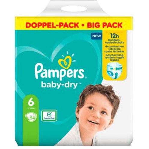 Windeln Pampers Baby Dry, Grösse 6 Extra Large, 13-18kg, Doppelpack, 54 St
