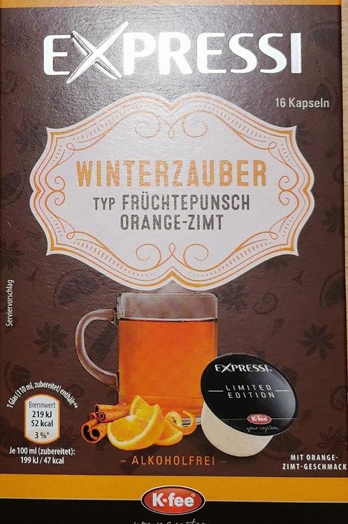 K-Fee Kapsel Expressi Lungo Früchtepunsch Orange-Zimt, Limited Edition