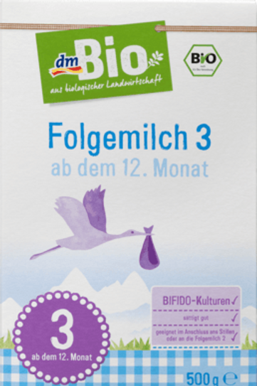 DM Bio Folgemilch 3 - ab dem 12. Monat, 500 g
