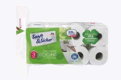 Saugstark&Sicher Toilettenpapier Recycling 3lagig 16x200, 16 St