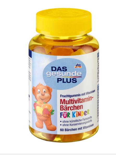 Mivolis Multivitamin-Bärchen für Kinder, Fruchtgummis, 60 St., 120 g
