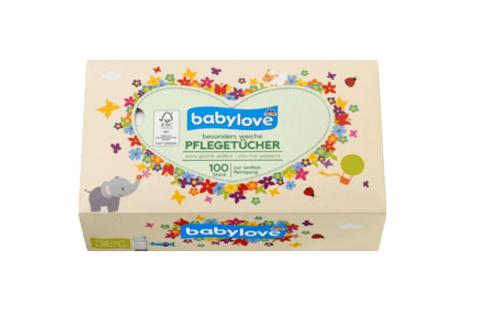 Babylove Papier Pflegetücher, 100 St extra gross und Reissfest