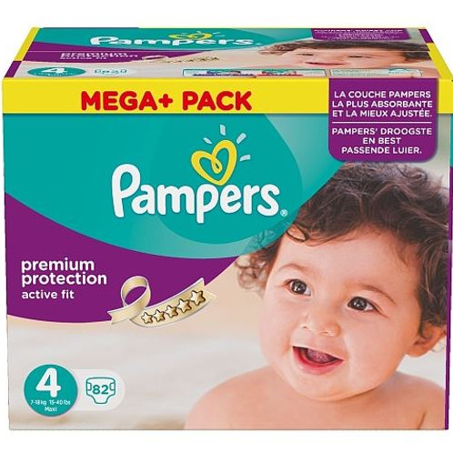 Pampers Premium Protection Active Fit Grösse 4 Maxi, 8-16 kg, Mega+ Pack, 82  St