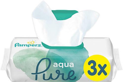 Pampers aqua Pure Feuchttücher 3-er Pack (99% Wasser)