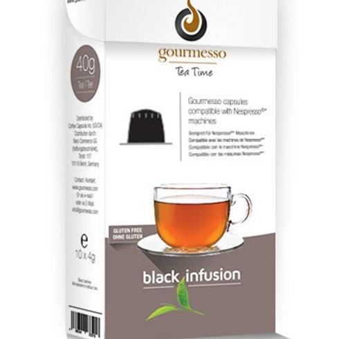 Nespresso® kompatible Kapsel von GOURMESSO Black Infusion Teekapseln