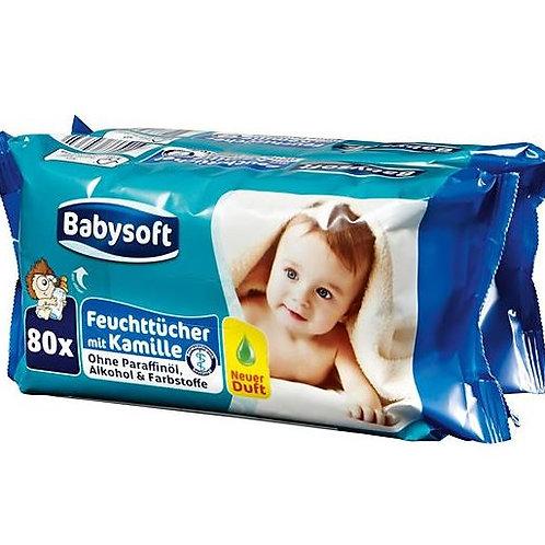 Babysoft Baby Pflegetücher Kamille Doppelpack 2x80