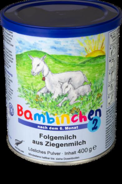 Bambinchen Folgemilch 2 aus Ziegenmilch nach dem 6. Monat, 0,4 kg