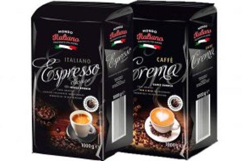 Ganze Kaffeebohnen MONDO ITALIANO 1 KG Espresso 100% Arabica