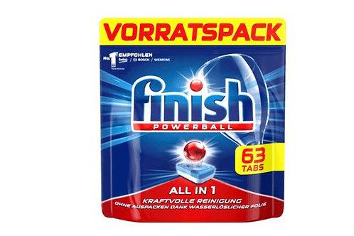 finish Powerball Spülmaschinen-Tabs All in 1 Vorratspack, 63 St