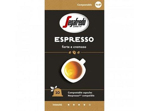 Nespresso® kompostierbare Kapsel von SEGAFREDO Espresso Cremoso