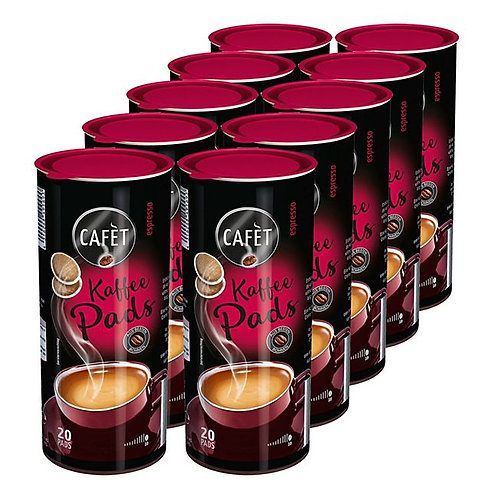Cafet Kaffee Pads Espresso 144 g, 20 Stück