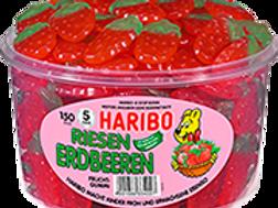 HARIBO RIESEN ERDBEEREN Vegetarisch, Dose mit 150St
