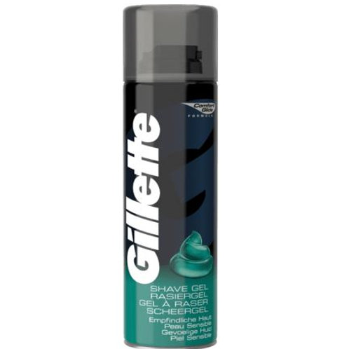 Gillette Rasiergel empfindliche Haut, 200 ml