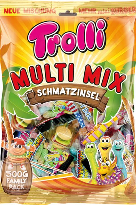 Trolli Gummi Multi Mix Schmatzinsel Beutel mit 500g