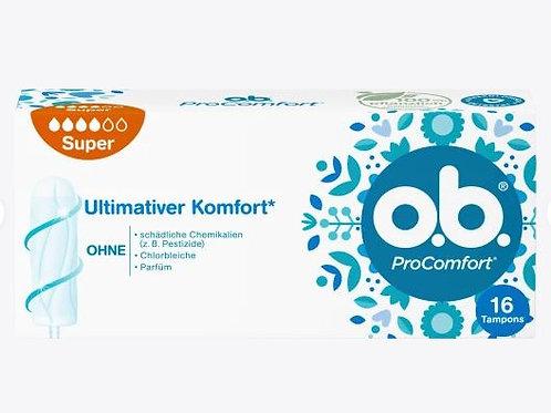 o.b.  Tampons Pro Comfort Super, 16 St