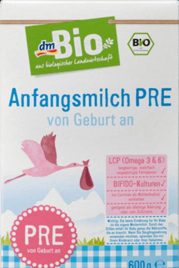 DM Bio Anfangsmilch PRE - von Geburt an, 600 g