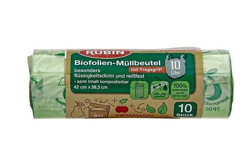 RUBIN Tragegriff Biofolien Müllbeutel 10l/10Stück