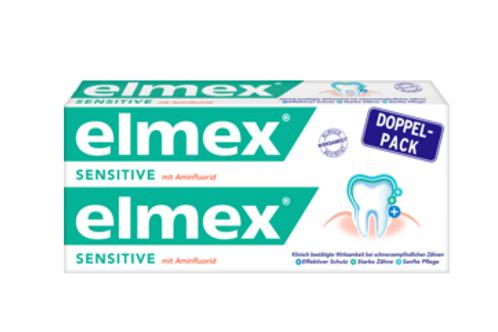 Elmex Zahncreme sensitiv Doppelpack (2x75ml), 150 ml