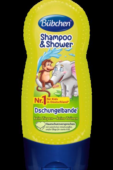 Bübchen Kids Shampoo & Shower Dschungelbande, 230 ml