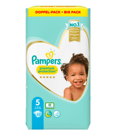 PAMPERS Premium Protection, Grösse 5 Junior, 11-16kg, Doppelpack, 52 St