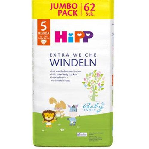 Hipp diapers Gr. 5 Junior Jumbo Pack, 62 pcs