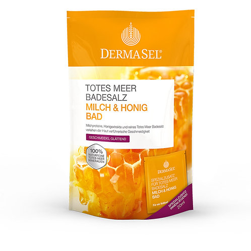 Dermasel Totes Meer Badesalz Milch + Honig Bad