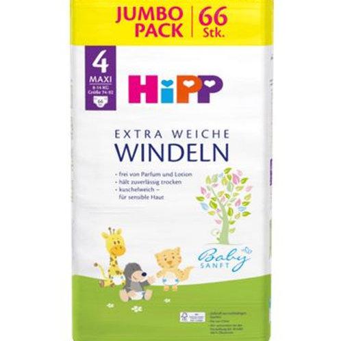 Hipp Windeln Gr. 4 Maxi Jumbo Pack, 66 St