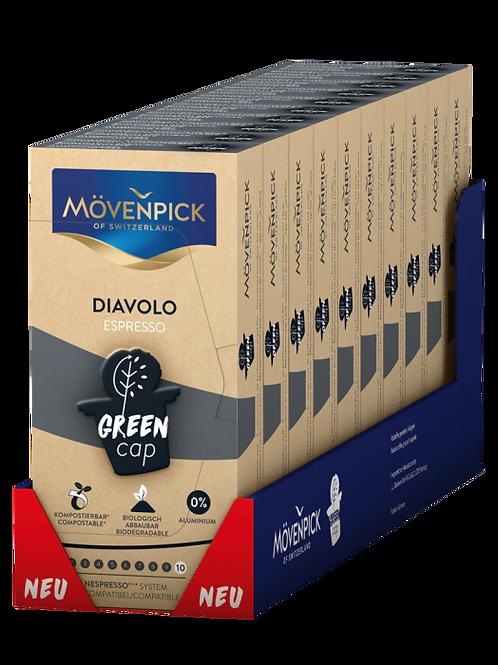 Nespresso® kompatible Kompostierbare KaffeeKapsel Mövenpick Diavolo
