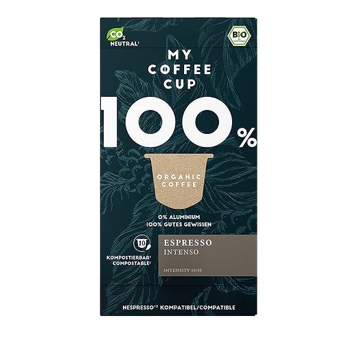 Nespresso® kompatible Kaffeekapseln MY-Coffeecup Espresso Intenso
